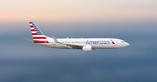 AA plane in flight